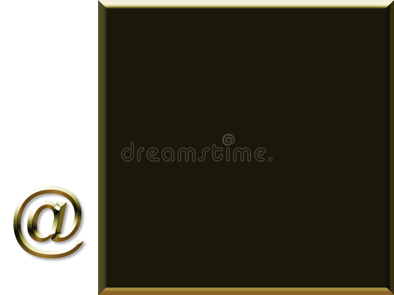 Symbole de courrier illustration stock