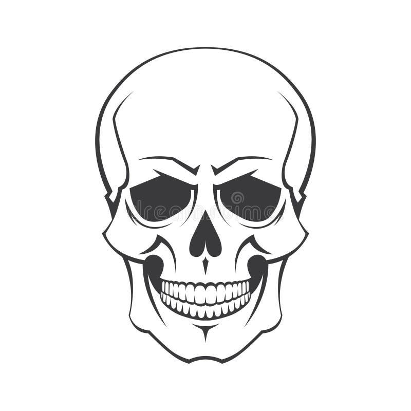 Symbole de crâne illustration de vecteur