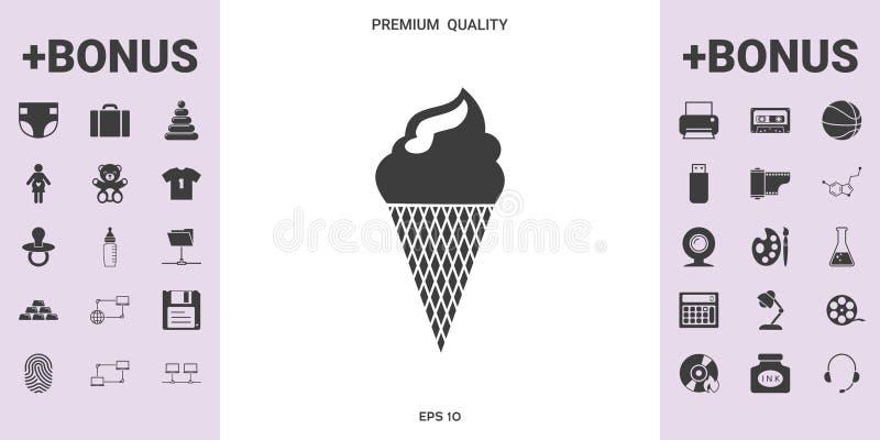 Symbole de crème glacée - éléments graphiques pour votre conception illustration stock