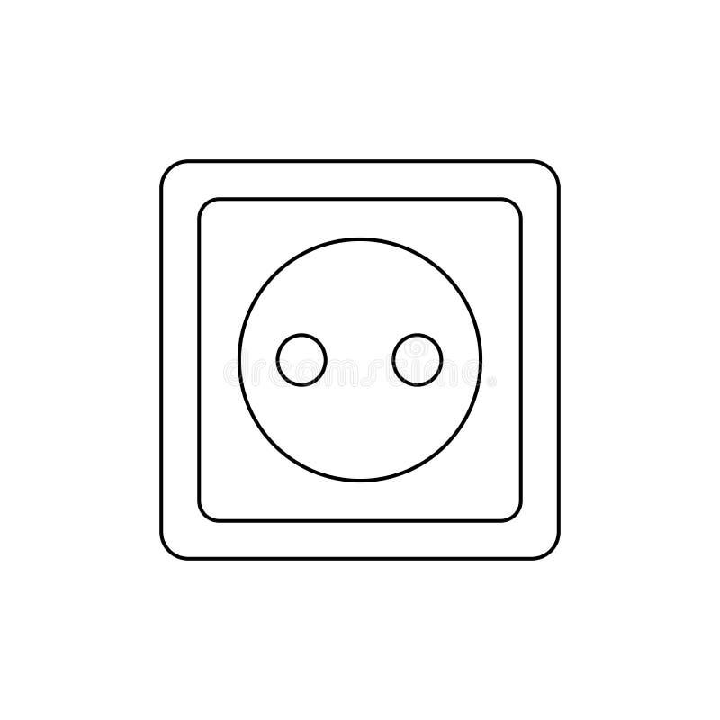 Symbole de débouché électrique d'Ouline Pinctogram de prise de puissance Ic?ne de prise de prise illustration libre de droits
