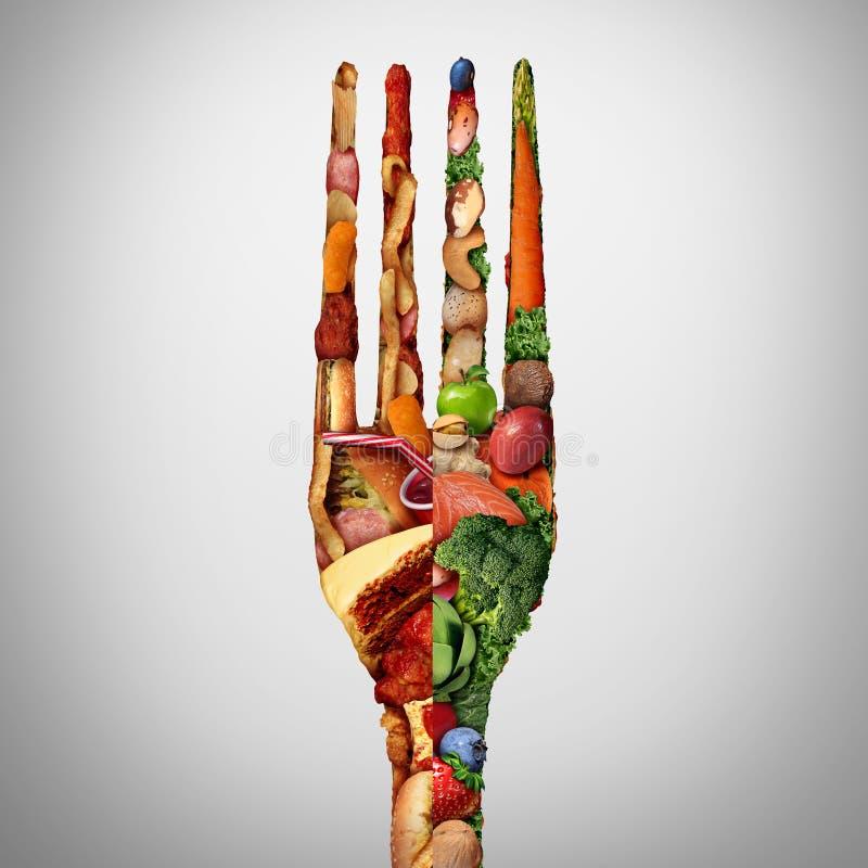 Symbole de décision de nourriture illustration libre de droits