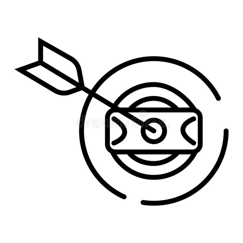 Symbole de dard du dollar, vecteur illustration libre de droits
