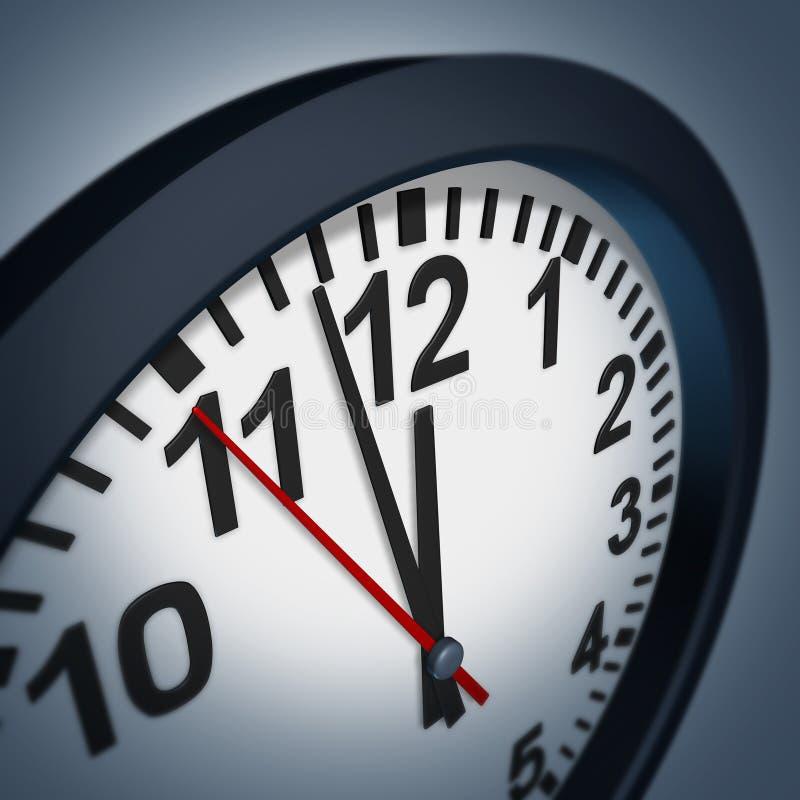 Symbole de date-limite avec l'horloge de mur illustration de vecteur