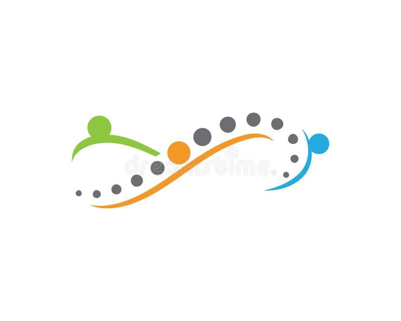 Symbole de diagnostics d'épine d'infini illustration de vecteur