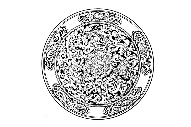 Symbole de dragon images libres de droits