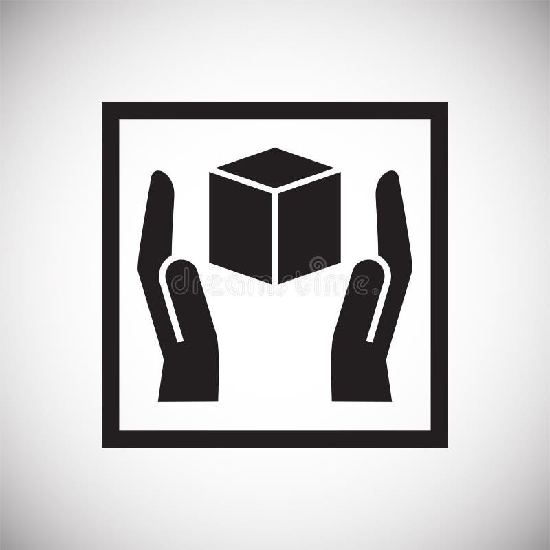 Symbole de empaquetage sur le fond pour le graphique et la conception web Signe simple de vecteur Symbole de concept d'Internet p illustration de vecteur