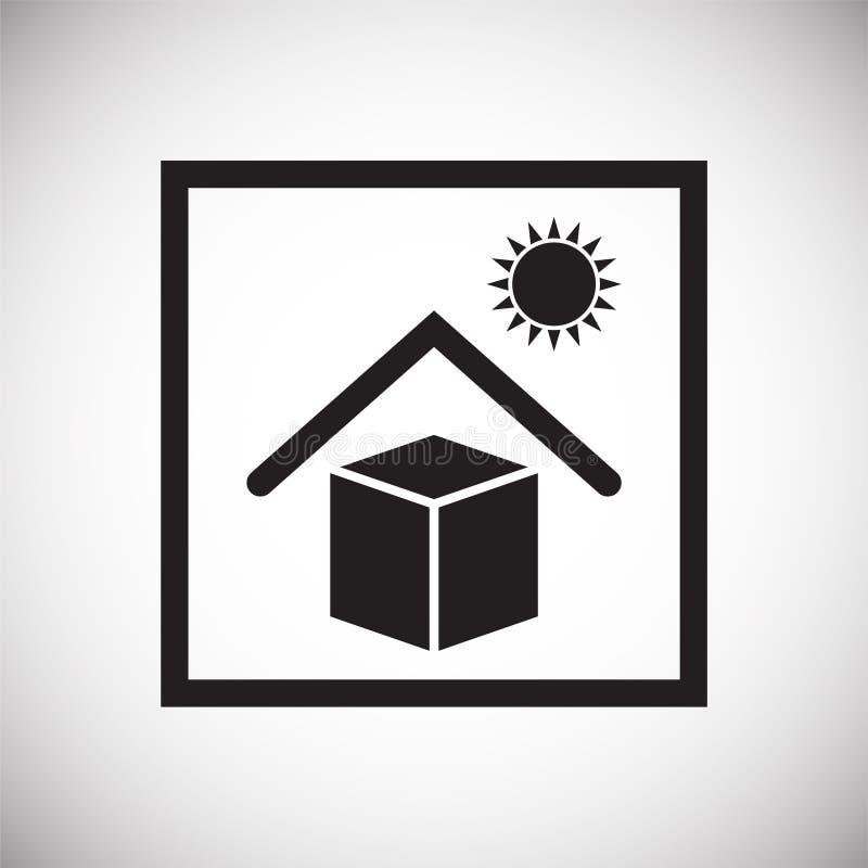 Symbole de empaquetage sur le fond pour le graphique et la conception web Signe simple de vecteur Symbole de concept d'Internet p illustration stock