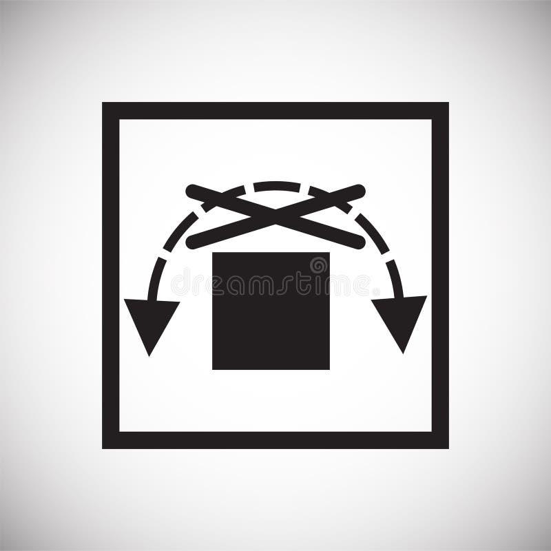 Symbole de empaquetage sur le fond pour le graphique et la conception web Signe simple de vecteur Symbole de concept d'Internet p illustration libre de droits