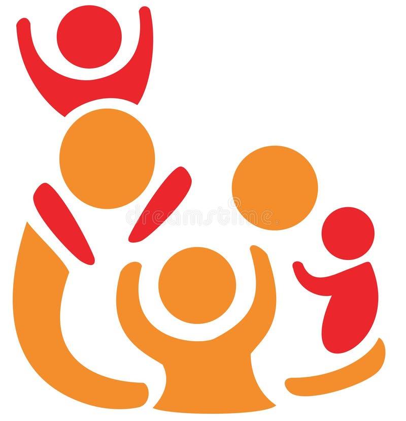 Symbole de famille dans les figures simples illustration de vecteur