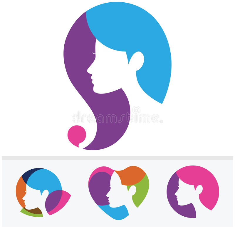 Symbole de femme illustration stock