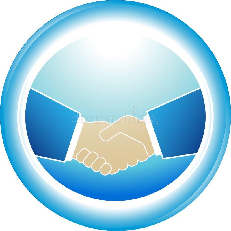 Symbole de fiabilité - poignée de main d'association illustration stock