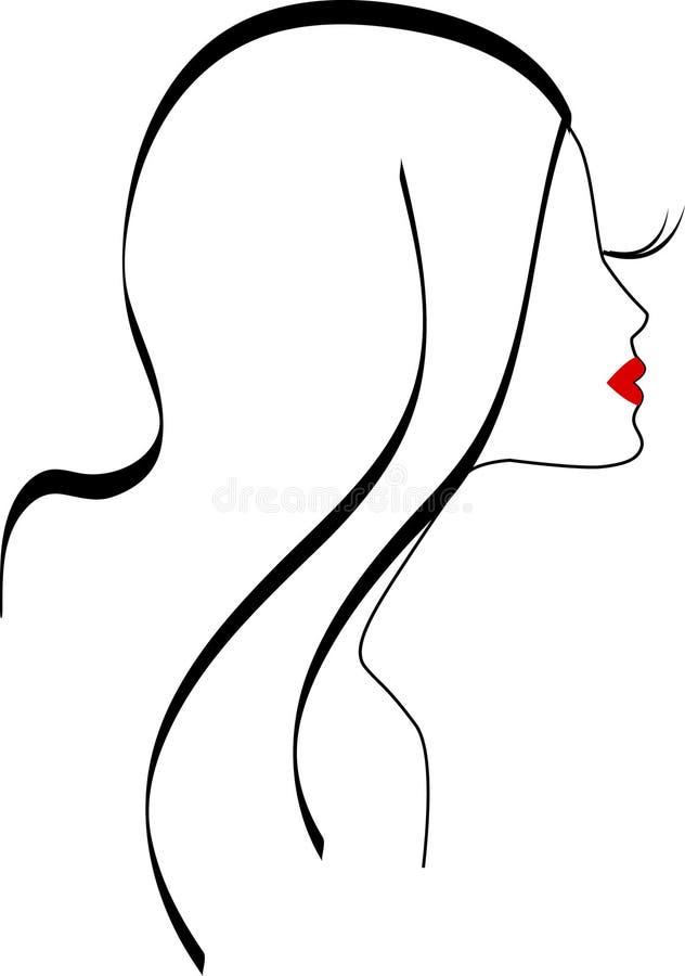 Symbole de fille illustration stock