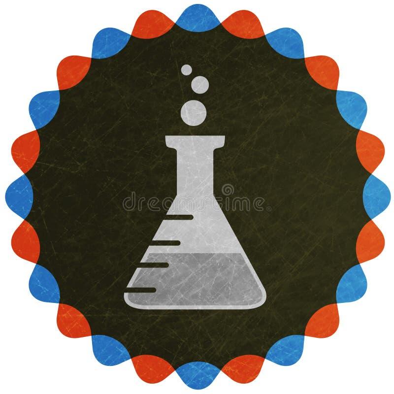 Symbole de flacon de laboratoire illustration de vecteur