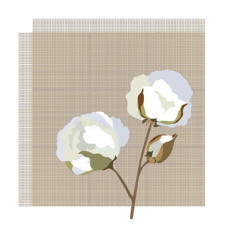 Symbole de fleur de coton illustration libre de droits