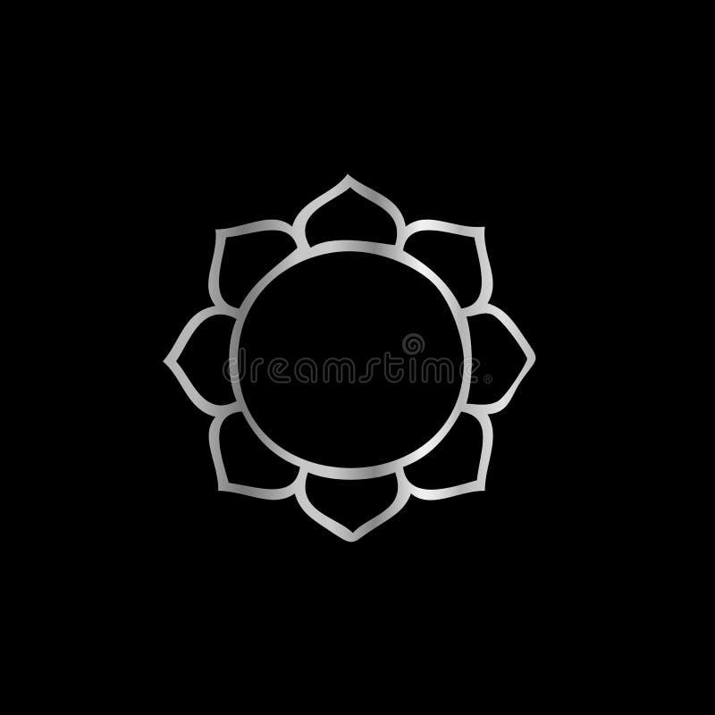 symbole de fleur de lotus de bouddhisme photographie stock. Black Bedroom Furniture Sets. Home Design Ideas