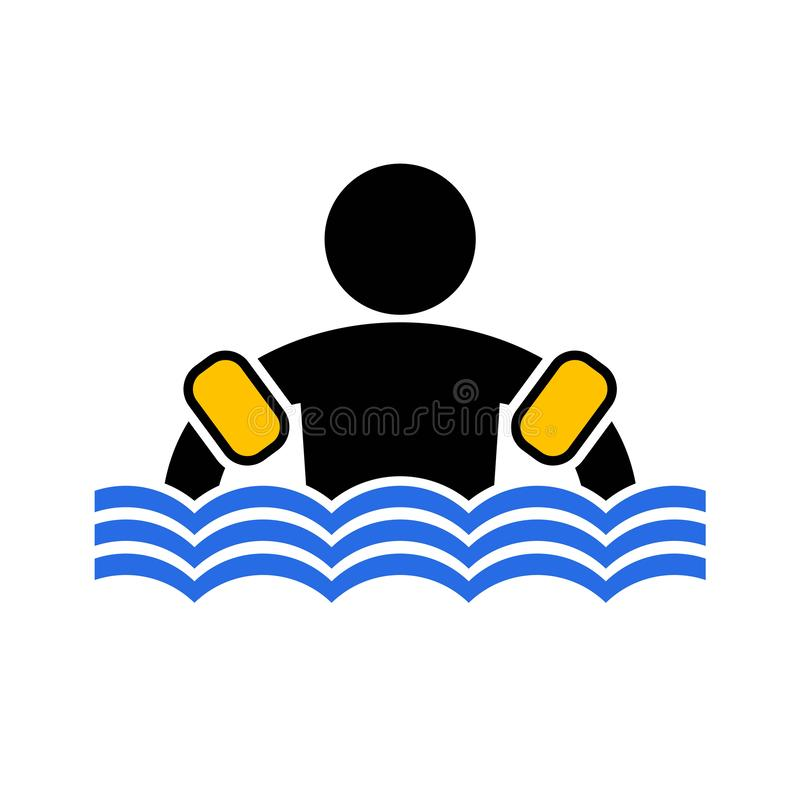 Symbole de flotteur de bras illustration stock