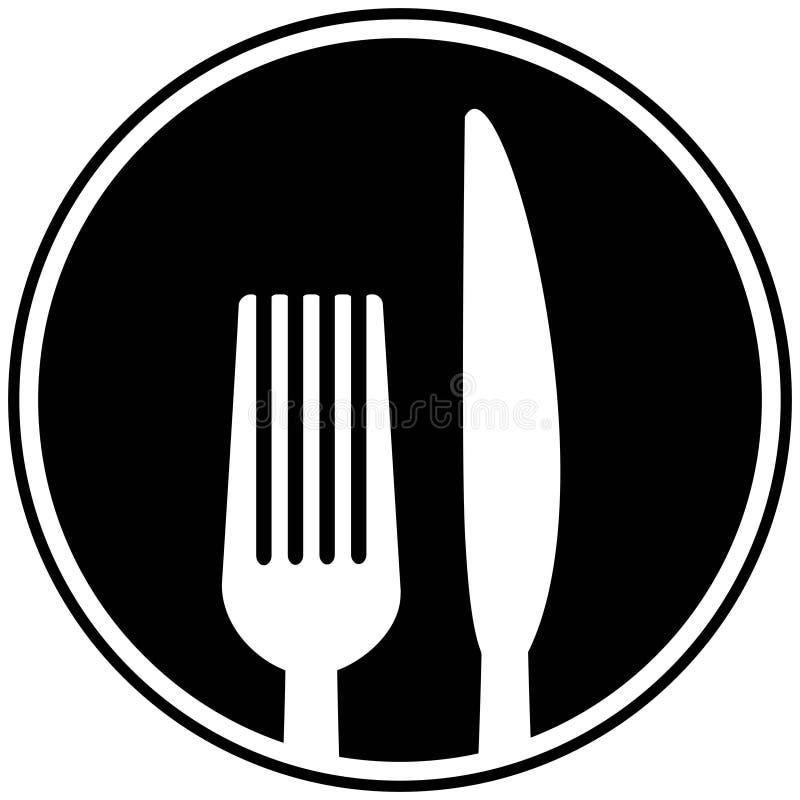 Symbole de fourchette et de couteau illustration libre de droits