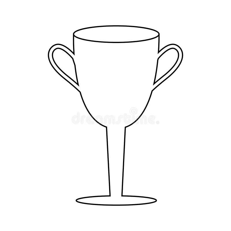 Symbole de gagnant de championnat d'ensemble Ic?ne de tasse de gagnant illustration libre de droits