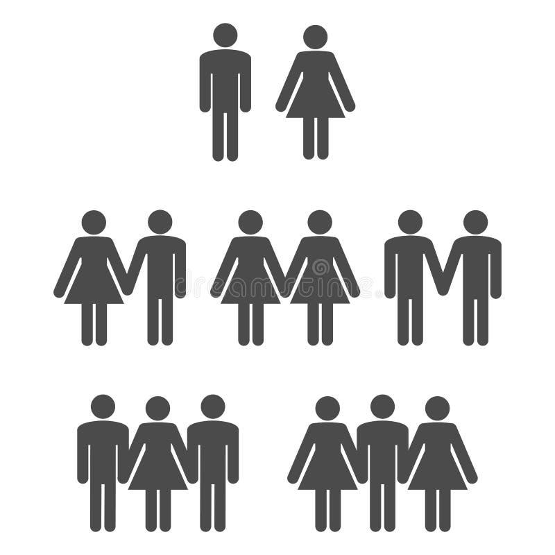 Symbole 2 de genre illustration stock