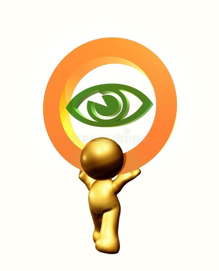 symbole de graphisme d'oeil de soin illustration de vecteur