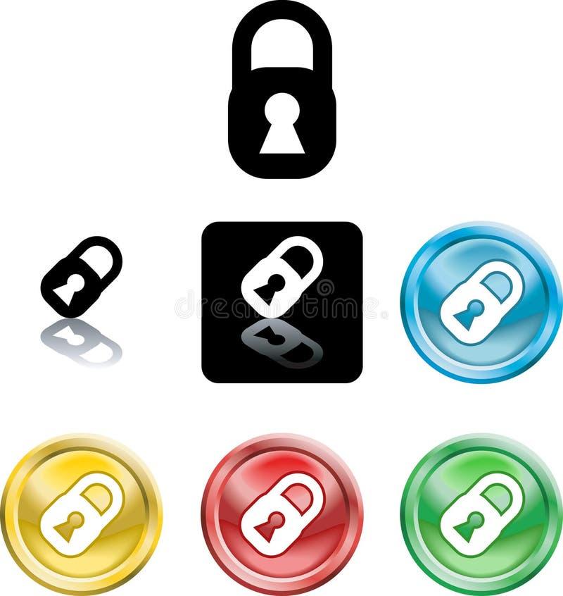 Symbole de graphisme de cadenas illustration libre de droits