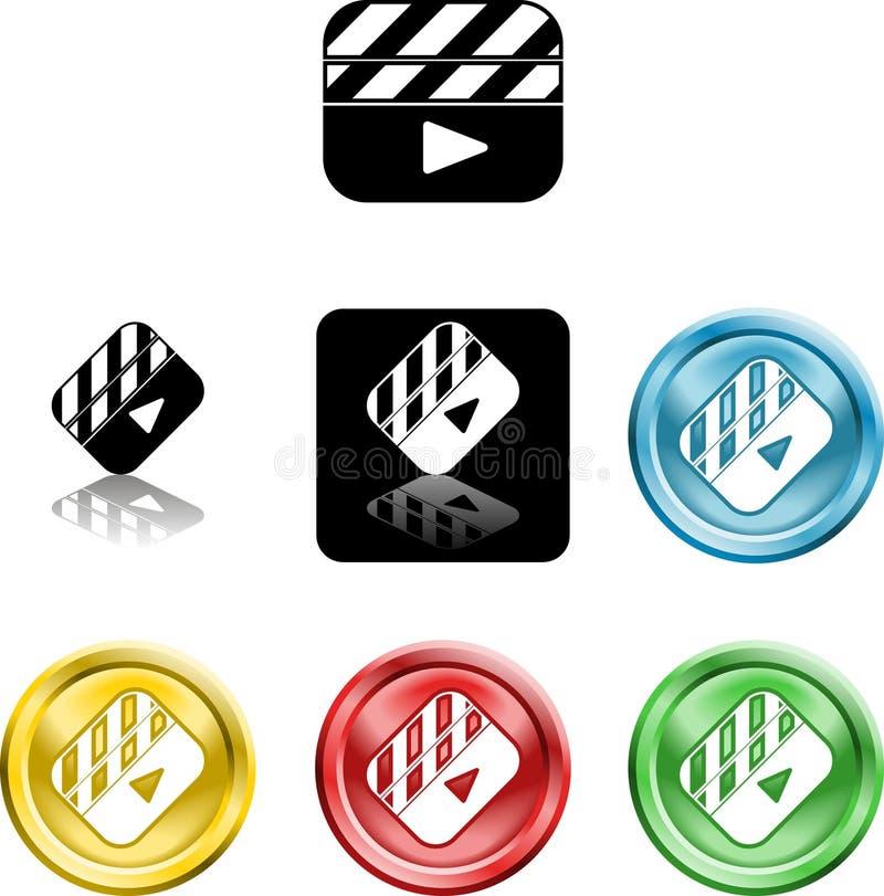 Symbole de graphisme de clapet de film illustration stock