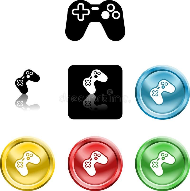 Symbole de graphisme de contrôleur de jeu illustration libre de droits