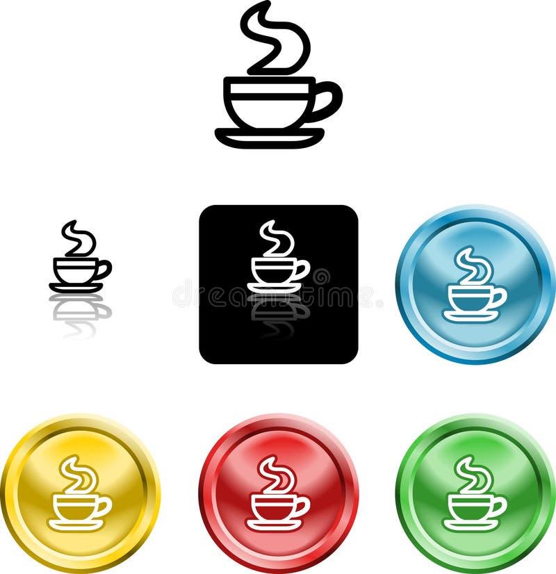 Symbole de graphisme de cuvette de café illustration stock