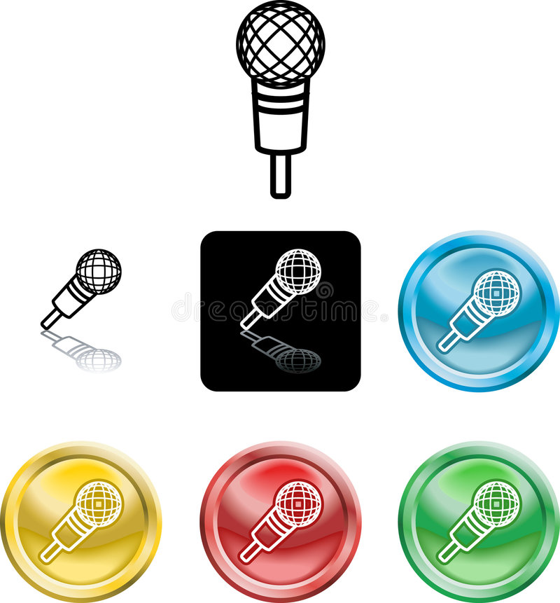 Symbole de graphisme de microphone illustration stock