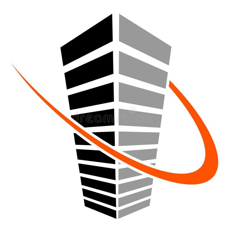 Symbole de gratte-ciel illustration de vecteur