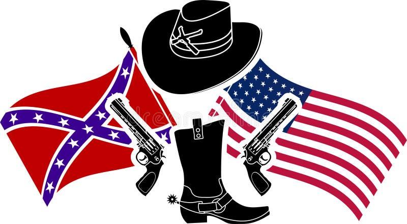 Symbole de guerre civile américaine illustration de vecteur