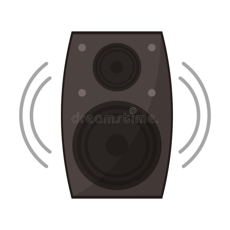 Symbole de haut-parleur de musique illustration libre de droits