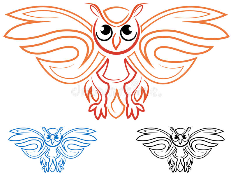 Symbole de hibou illustration stock