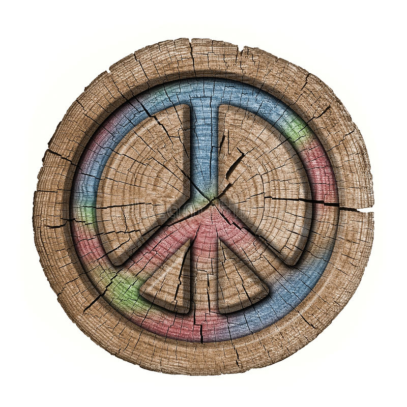 Symbole de hippies illustration stock