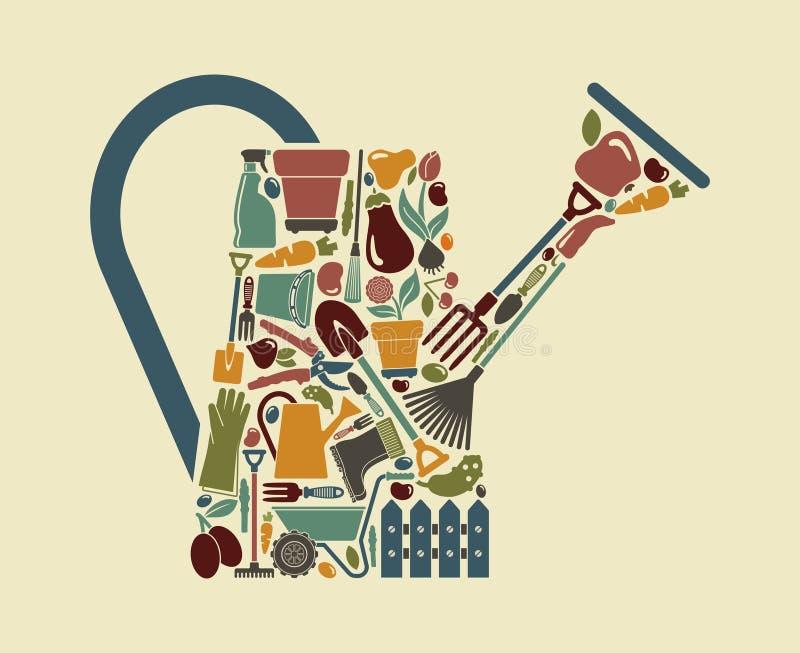 Symbole de jardin Illustration de vecteur illustration stock