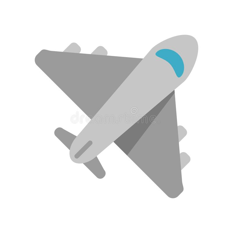 Symbole de jet d'avion illustration libre de droits