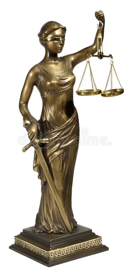 Symbole de justice images stock