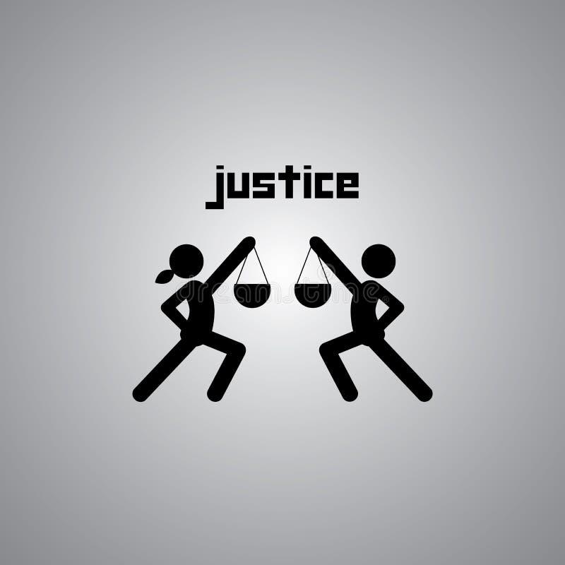 Symbole de justice illustration stock