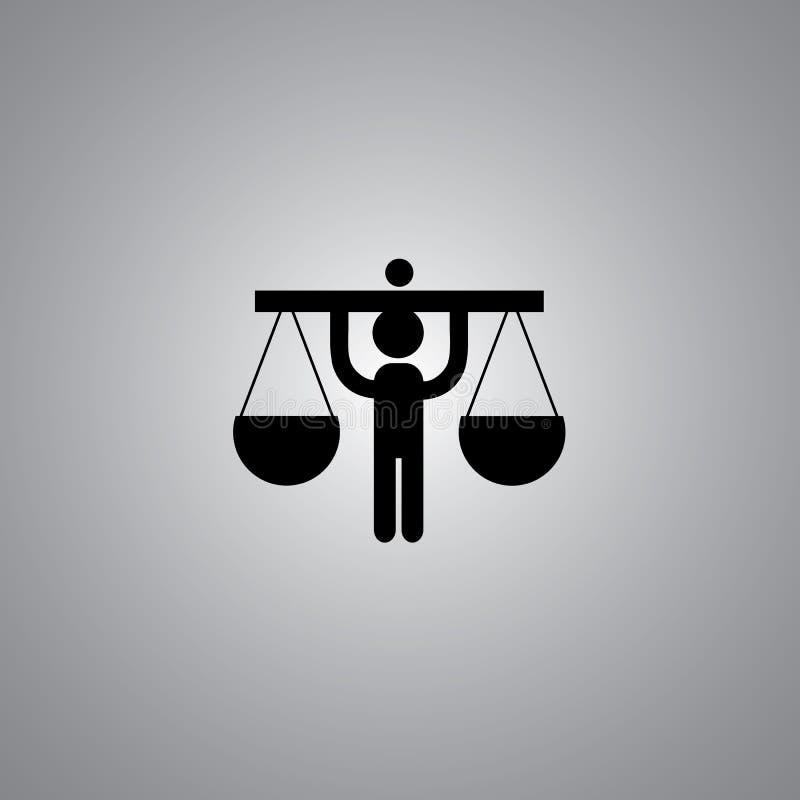 Symbole de justice illustration libre de droits