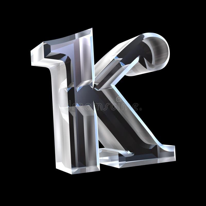 Symbole de Kappa en glace (3d) illustration libre de droits