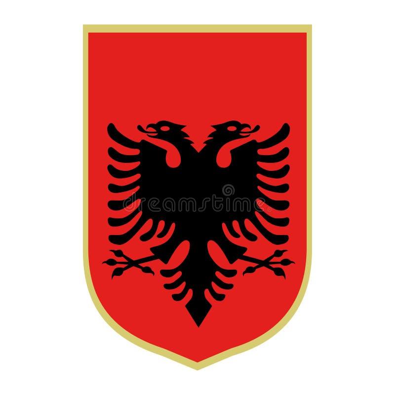 Symbole de l'Albanie illustration libre de droits