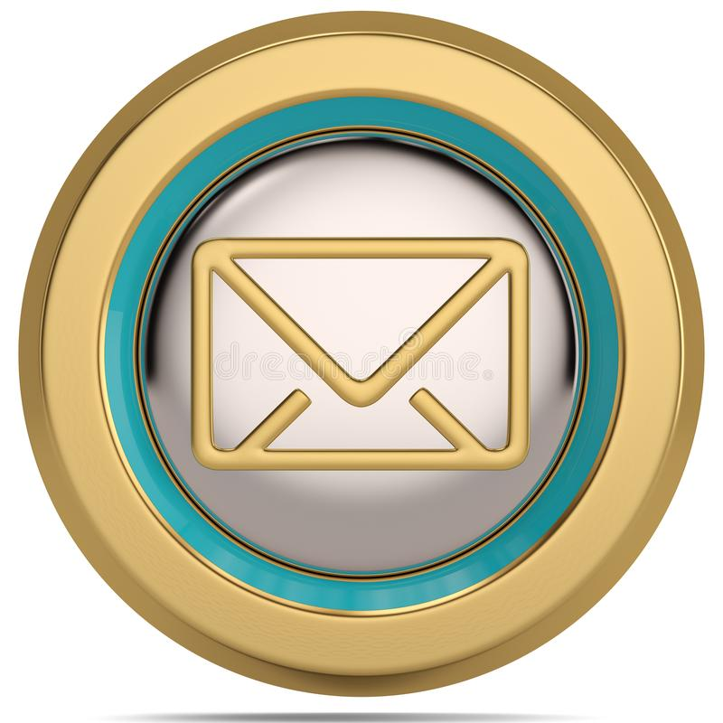 Symbole de l'email 3d d'isolement sur le fond blanc illustration 3D illustration libre de droits