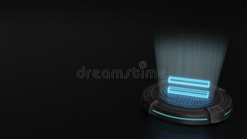 symbole de l'hologramme 3d d'icône égale rendre illustration stock