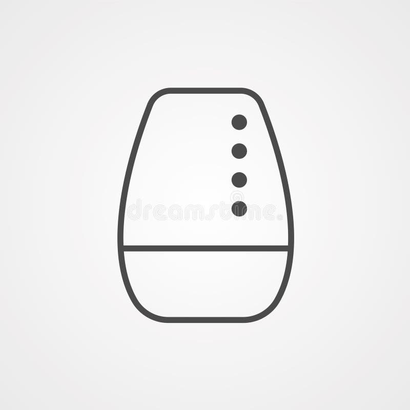 Symbole de l'icône du vecteur de haut-parleur sans fil illustration stock