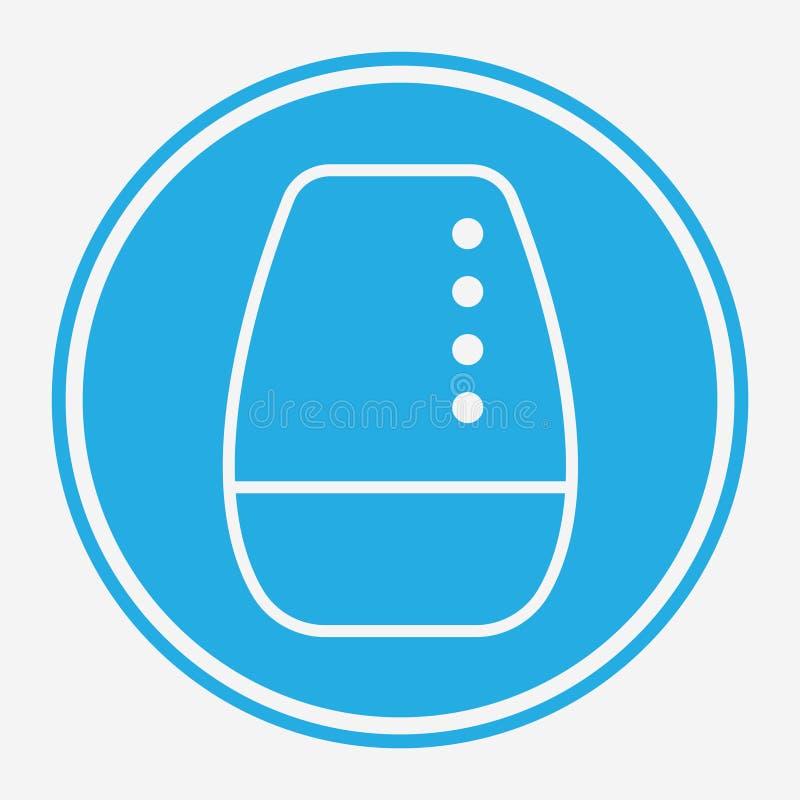 Symbole de l'icône du vecteur de haut-parleur sans fil illustration de vecteur