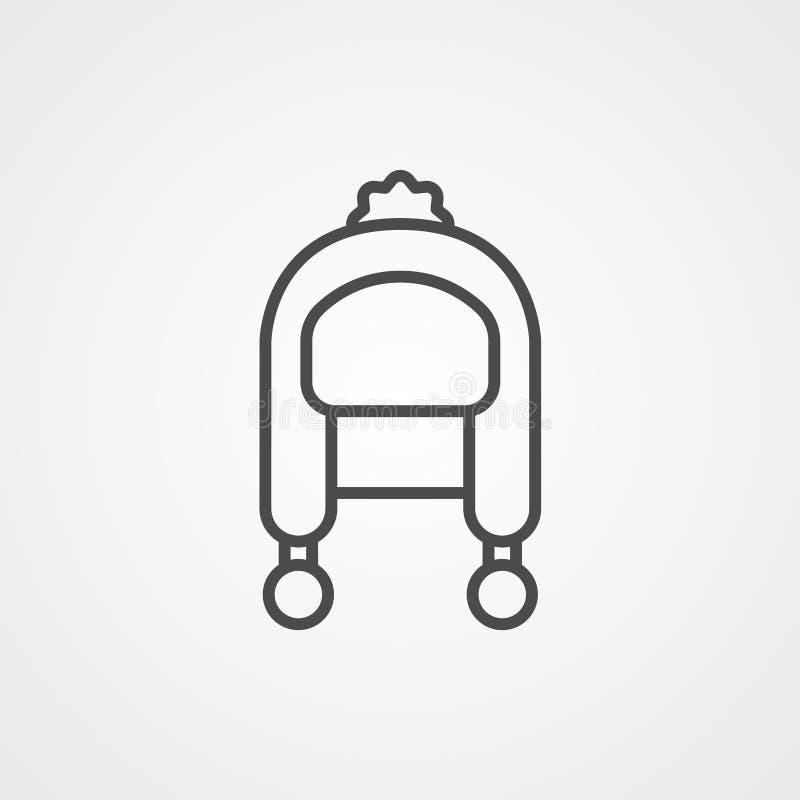 Symbole de l'icône du vecteur de l'hiver illustration libre de droits