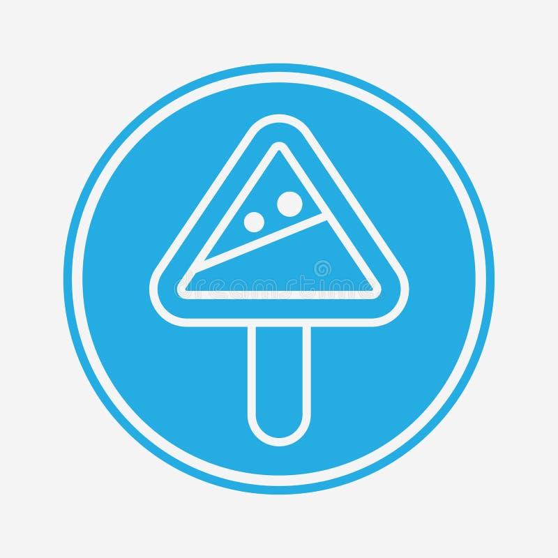 Symbole de l'icône du vecteur de prudence en hiver illustration de vecteur