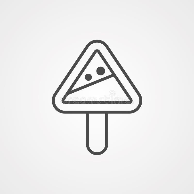 Symbole de l'icône du vecteur de prudence en hiver illustration stock