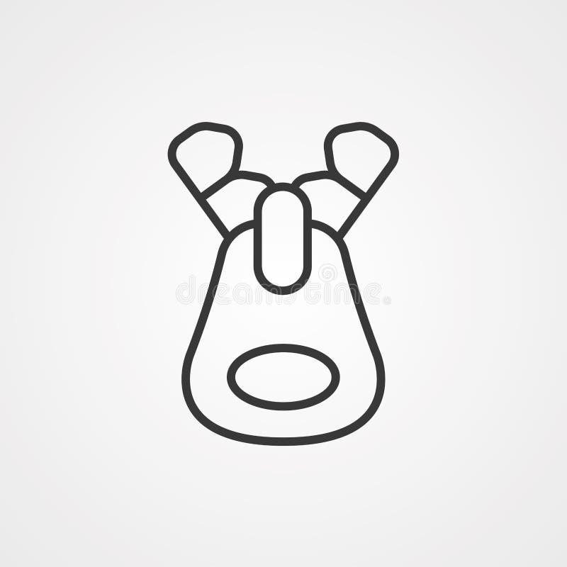 Symbole de l'icône du vecteur Zip illustration de vecteur