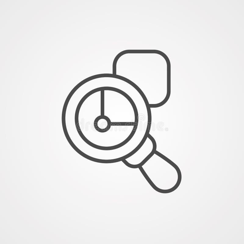 Symbole de l'icône du vecteur de zoom illustration stock